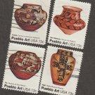 Pueblo Art U.S. Postage Stamps Set of 4 1977 Commemoratives