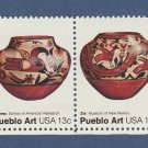 Pueblo Art U.S. Commemorative Postage Stamps Horizontal Strip of 4