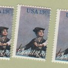 The Spirit of '76 U.S. Postage Stamps Set of 3 Singles