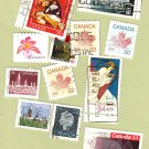 Canada Postage Stamps Assortment Lot of 12