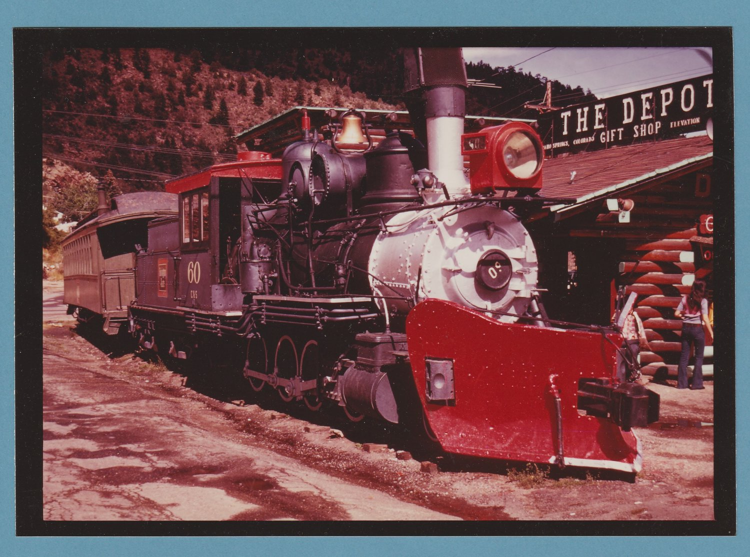 Full-Color Photograph - Train - Depot Gift Shop - Idaho Springs - Colorado