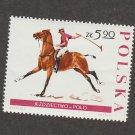Horse Polo Postal Stamp Poland Polska Sports Janow Podlaski
