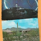 Lot of Two Scenic Arizona Postcards Kitt Peak, Sonora Desert Museum, Southwest