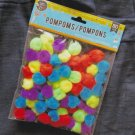 Assorted Colors Pompoms 80 Pieces Fluffy Multi-Colored Balls For Arts & Crafts