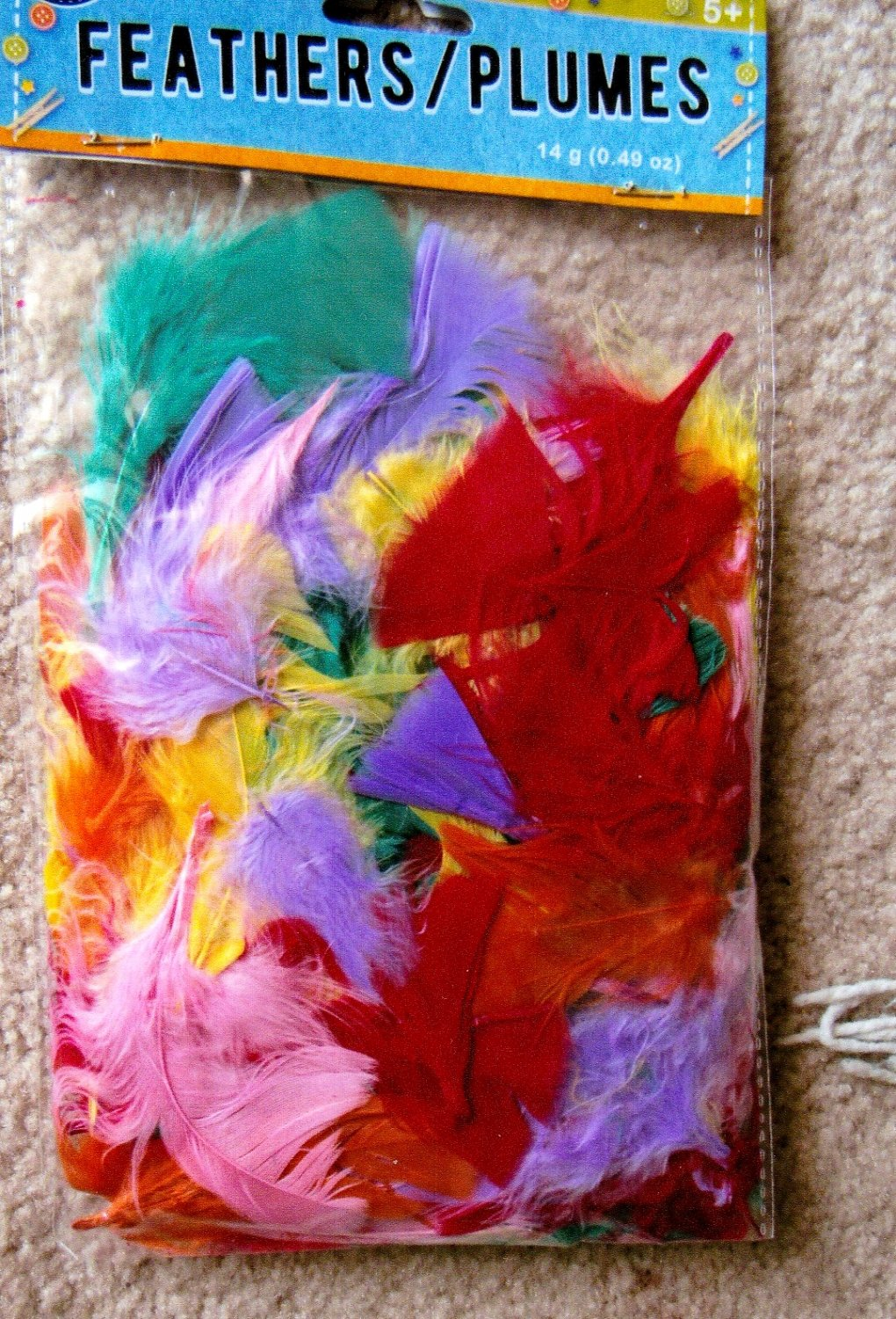 Assorted Colorful Feathers For Crafts, Parties, Games, School Projects