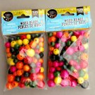 Wooden Round Beads 250 Pieces, Multi Color, Parties, Crafts, Assortment, Mixed Sizes