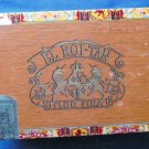 El Roi Tan Vintage Wooden Cigar Box With Lid Flor Fina Fresh Bankers Tobacciana