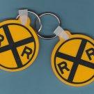 Two Railroad Key Rings/Keychains Northwestern Operation Lifesaver
