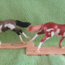 Breyer Running Thoroughbreds Stablemates Lot of 2 Pintos Model Horse Figurines