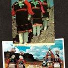 Zuni Pueblo Native American Indians Postcards Dolls, Olla Bearers