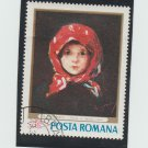 Posta Romana Postage Stamp Girl With Red Scarf Grigorescu