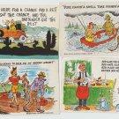 Comic / Humorous Post Cards Vintage Fishing Woman Ephemera