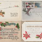 Antique Vtg Christmas Holiday Postcards Lot of 4