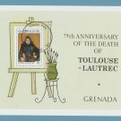 Grenada Souvenir Sheet Toulouse-Lautrec 75th Anniversary Stamp