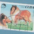 Collie Postage Stamp Miniature Dog Art CTO, 1994