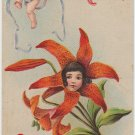 To My Valentine Holiday Antique Postcard Posted Embossed Heart Cherubs