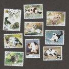 Nine Cat Stamps Cuba Correos Feline F to VG CTO Caribbean