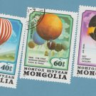 Mongolia Hot Air Balloons Postage Stamps Aviation Airships Dirigible