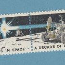 Decade of Space Achievements Se-Tenant Pair Scott #1434-5 U.S. Postage Stamps