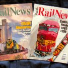 Pacific Rail News Magazine Lot of 2 Issues, C & NW, Santa Fe Railway, Trains