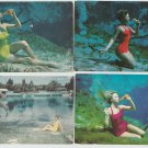 Weeki Wachee Springs Florida Vtg Post Cards Pretty Girls Bathing Beauties