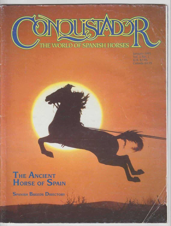 Conquistador Magazine RARE Jan. 1991 Paso Fino Spanish Horses