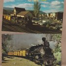 Silverton Narrow Gauge, Train Post Cards, Durango, Colorado, Railroad