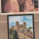 Two New Mexico Postcards Rancho de Taos Church, Old Building, Mission