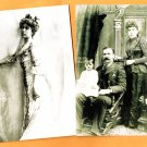Two Molly Brown Postcards Family Portraits Unused