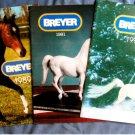 Breyer Animal Creations Lot of 3 Dealer Catalogs / Brochures Reference Model Horses