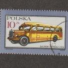 Omnibus Poland Polska Postage Stamp Miniature Art, Automobile