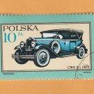 Automobile Poland Polska Postage Stamp Miniature Art Car