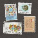 United Nations Stamps Assortment Lot of Four