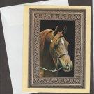 Beautiful Arabian Horse Head Note Card Greeting Congratulations