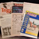 Large Lot Horse Magazine Clippings, Pictures, Stories, Excerpts, Information