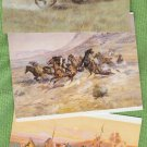 Art Post Cards Charles M. Russell Lot of 3 Horses Indians Western