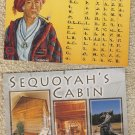Lot of 4 Cherokee Postcards Sequoyah's Cabin Alphabet Native American Indian