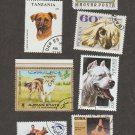 Dog-Themed Postage Stamp Collection Worldwide CTO Collection Assortment