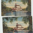 Broadmoor Hotel Vista From The Lake Colorado Vintage Postcard