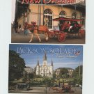 New Orleans Postcards Lot of 2 French Quarter Jackson Square