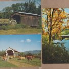 Vermont Covered Bridges Postcards New England Scenic Picturesque Countryside