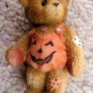 Adelaide Enesco Cherished Teddies Pumpkin Halloween Miniature Bear Figurine