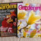 Lot of Two Organic Gardening Magazines Back Issues Magnolias, Tulips, Recipes