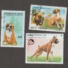 Boxers Postage Stamps Miniature Dog Art Assortment