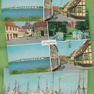 Lot of 3 Langeland Post Cards Denmark Continental Danish Scenes