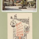 Partenkirchen Germany Beautiful Postcard Alps Mountains Plus Brochure