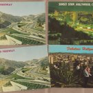 Hollywood, California Postcards, Sunset Strip, Skyline, Freeway