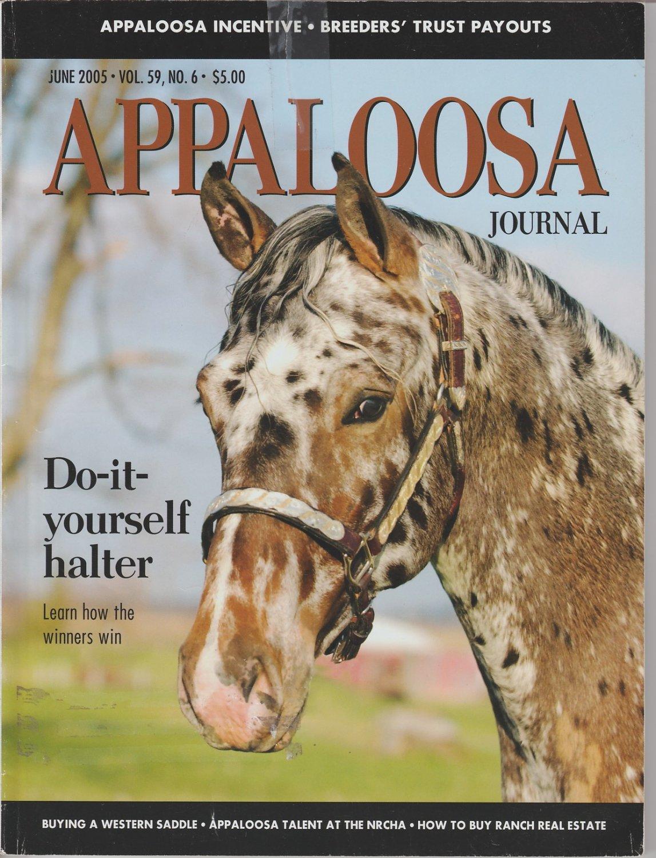 APPALOOSA JOURNAL Horses Magazine June 2005