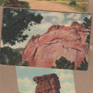Garden of the Gods Vintage Linen Postcards Balanced Rock, Colorado