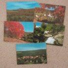 Five Vermont Scenic Postcards Picturesque Mountains Autumn Colors
